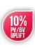 10% PV/BV Uplift